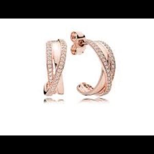 Jewelry - Pandora Rose Entwined Hoop Earrings